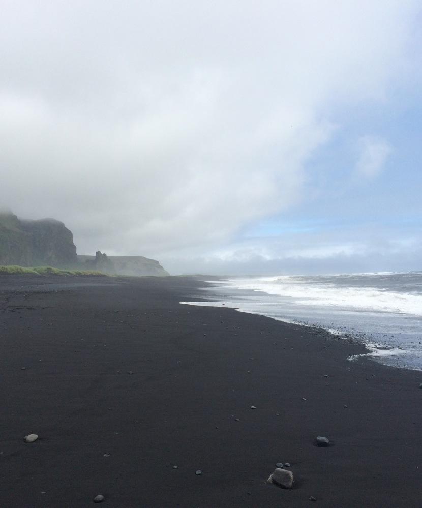 Black sand beaches at Vik, Iceland