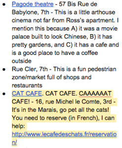 Paris Itinerary - Cat Cafe