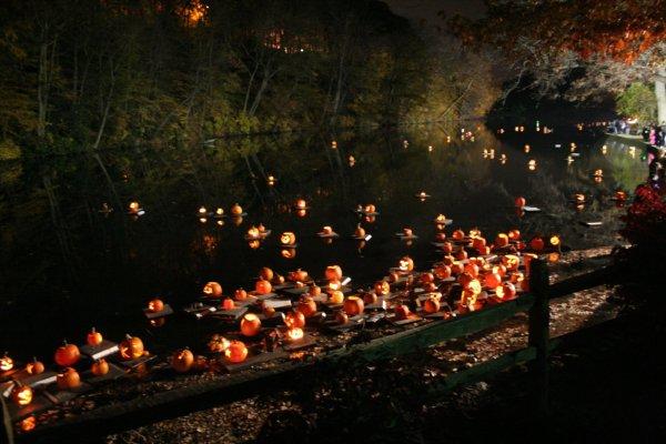 Central Park Pumpkin Flotilla, p/c http://roundtripnuevayork.com/halloween-en-nueva-york/