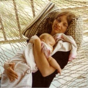 Mom in a hammock