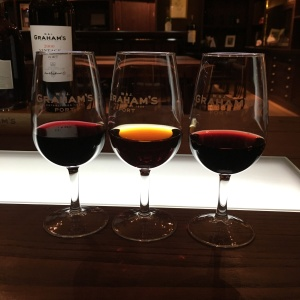 Ruby, tawny, and vintage port wine